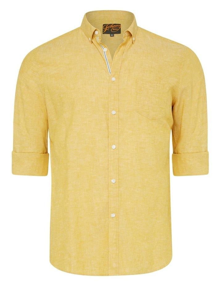 Serge Melange Linen Blend Shirt image 5