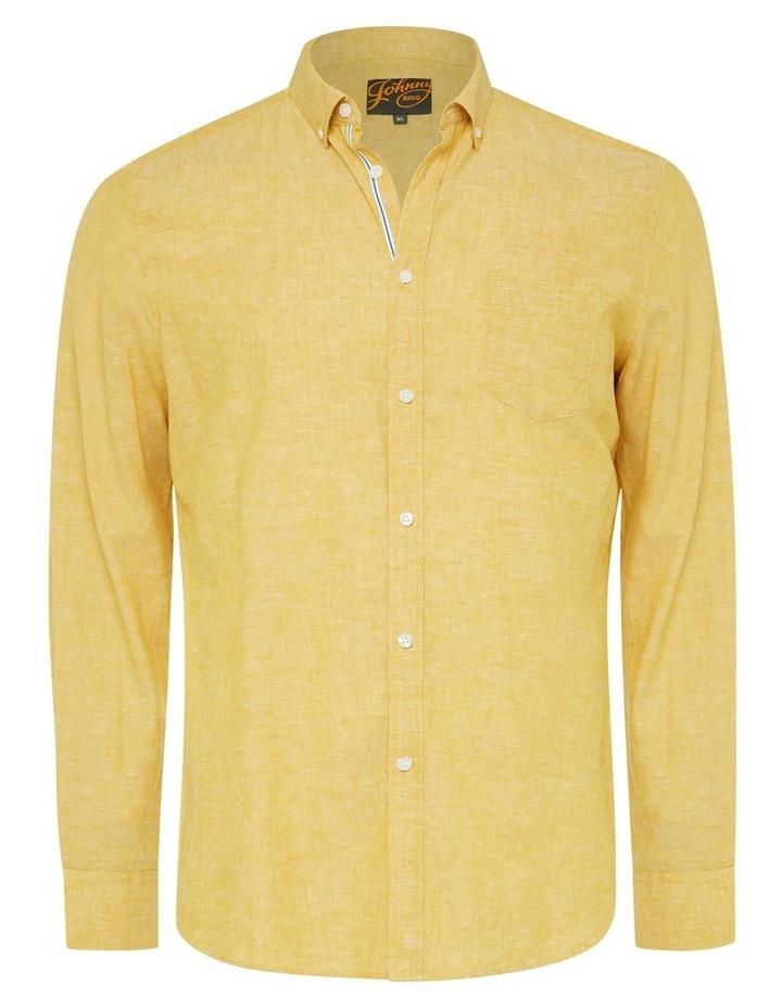 Serge Melange Linen Blend Shirt image 6