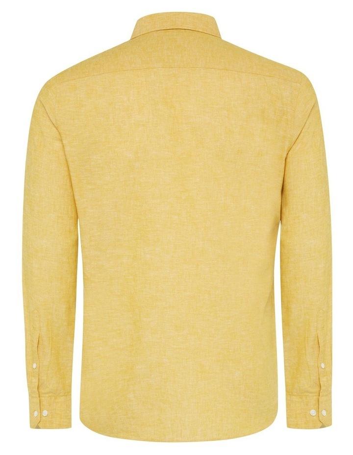 Serge Melange Linen Blend Shirt image 7