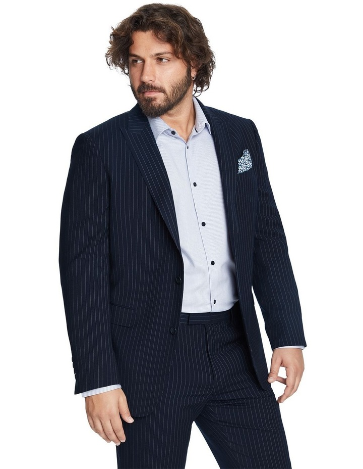 Henry Pinstripe Stretch Suit Jacket image 2