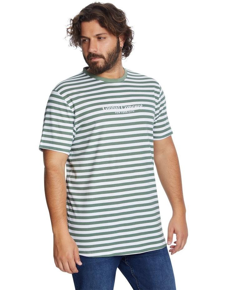 Global Stripe Longline Tee image 2
