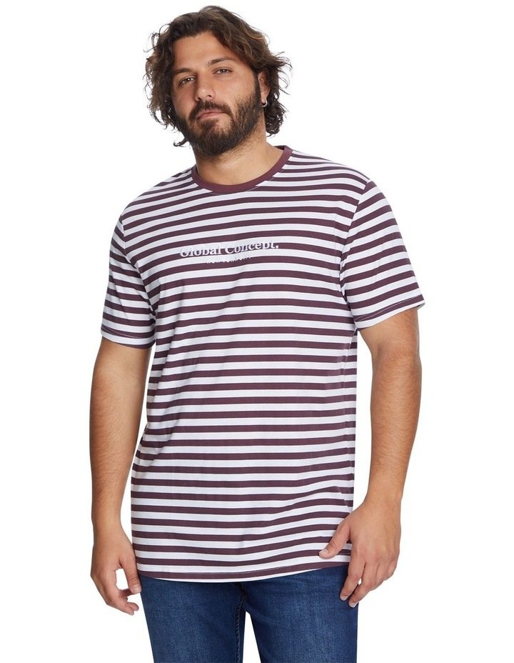 Global Stripe Longline Tee image 1