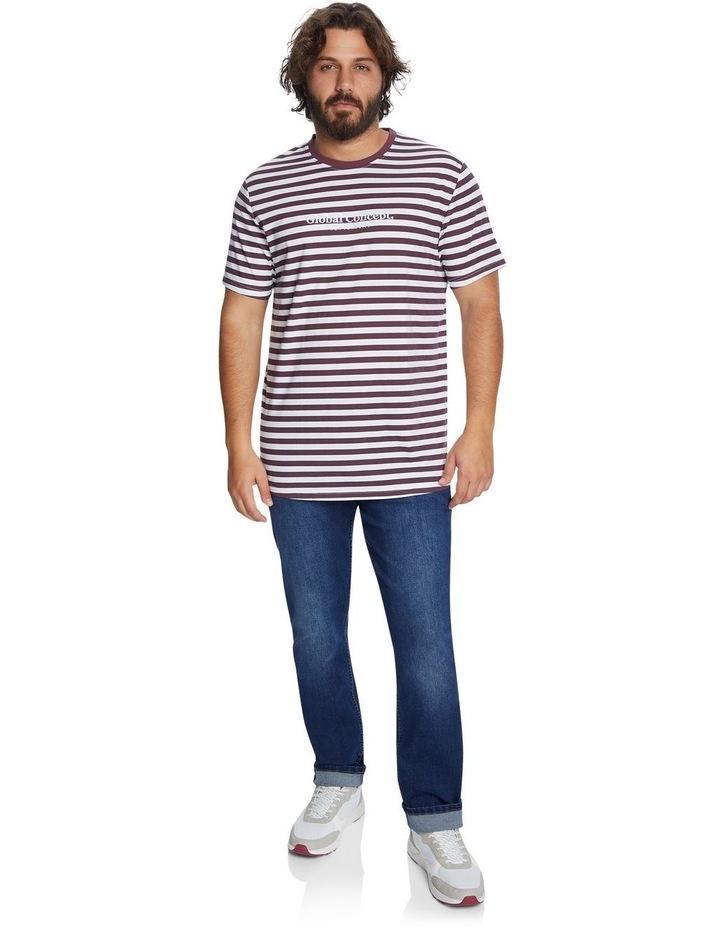 Global Stripe Longline Tee image 5