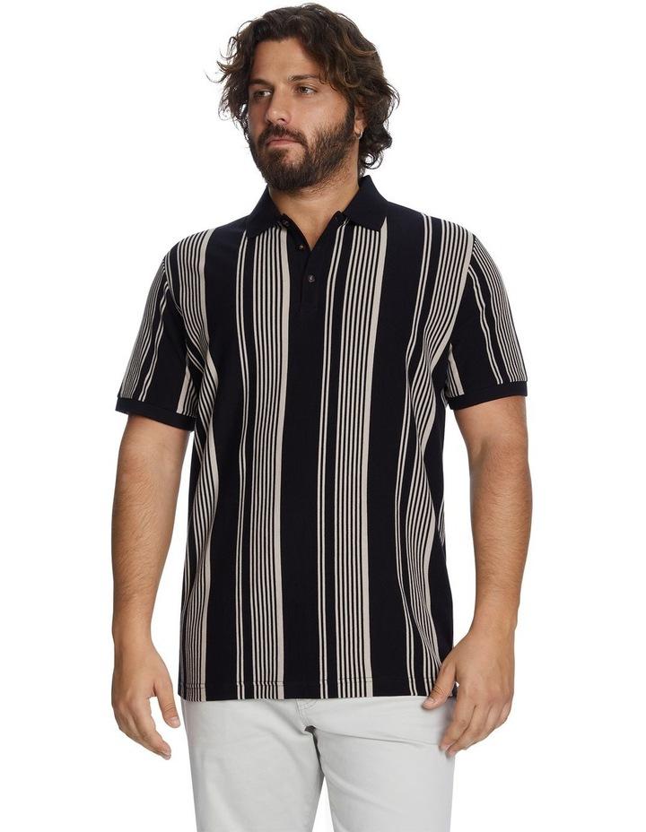 Harrow Stripe Pique Polo image 1
