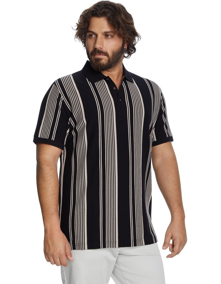 Harrow Stripe Pique Polo image 2