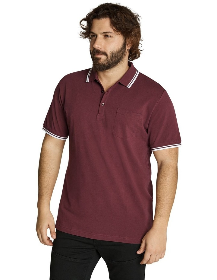 The Harper Tipped Pique Polo image 2
