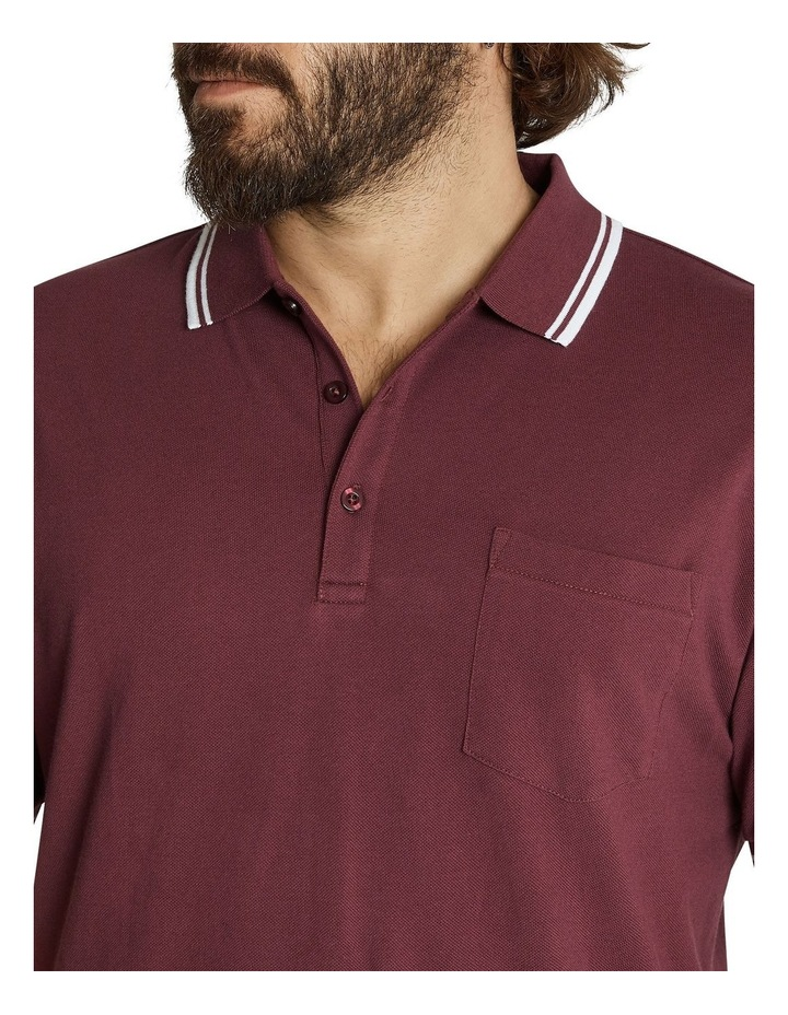 The Harper Tipped Pique Polo image 4
