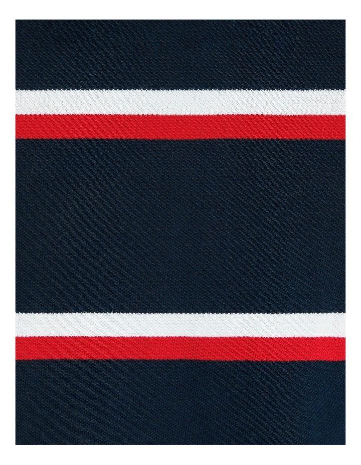 The Sutton Stripe Pique Polo image 7