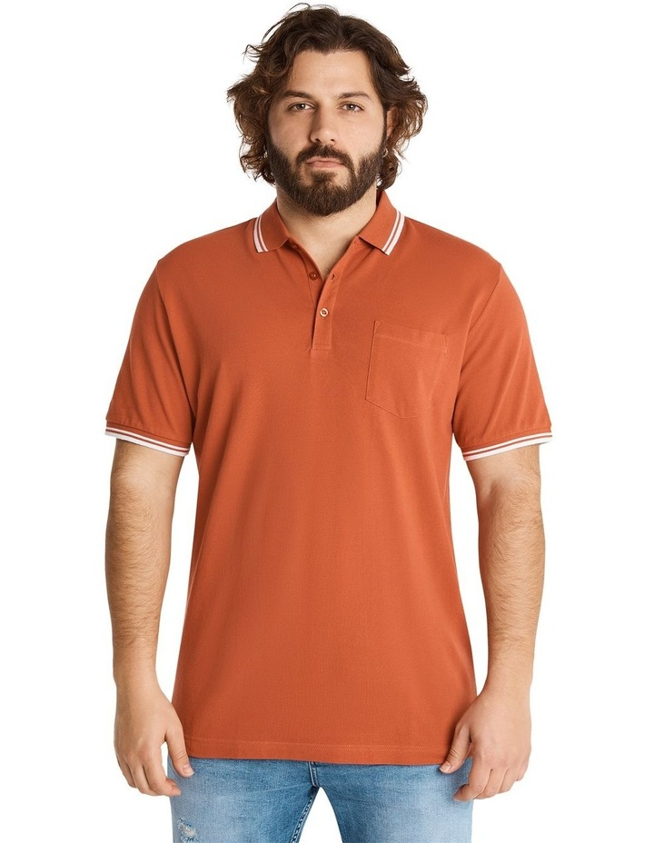 The Harper Tipped Pique Polo image 1