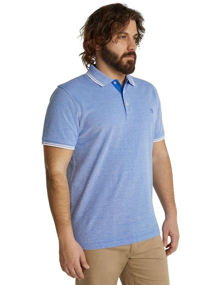 The Addison Jacquard Polo Blue image 2