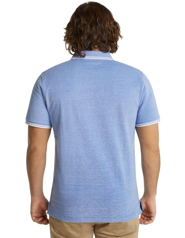 The Addison Jacquard Polo Blue image 3