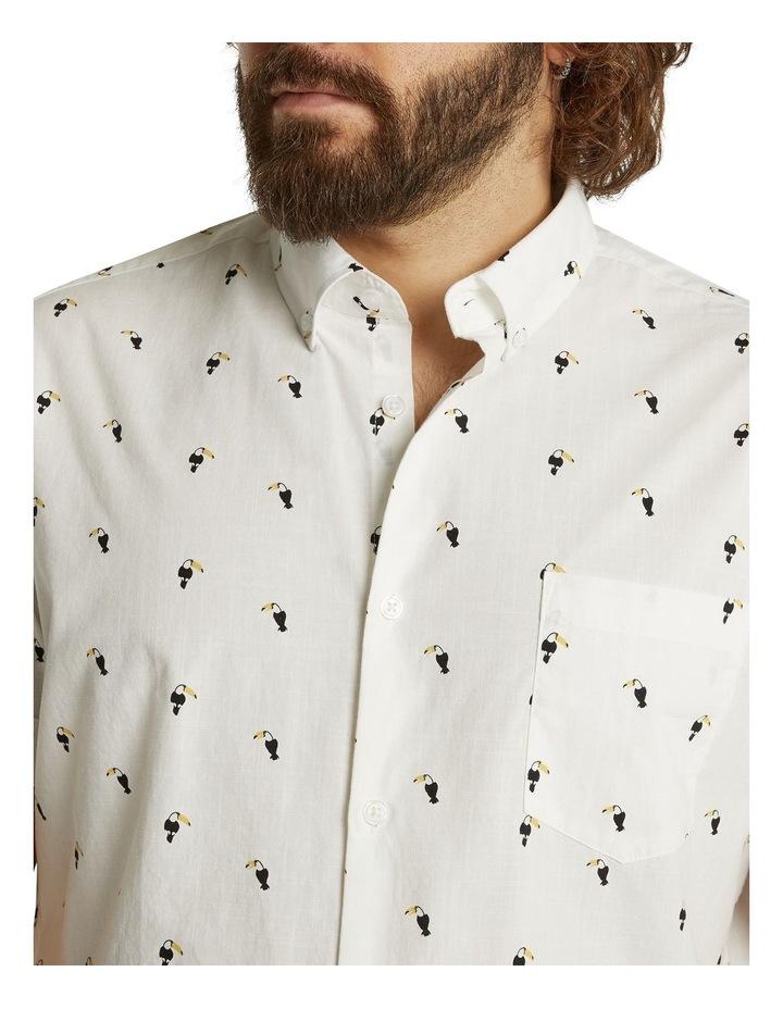 The Avis Toucan Print Shirt White image 4