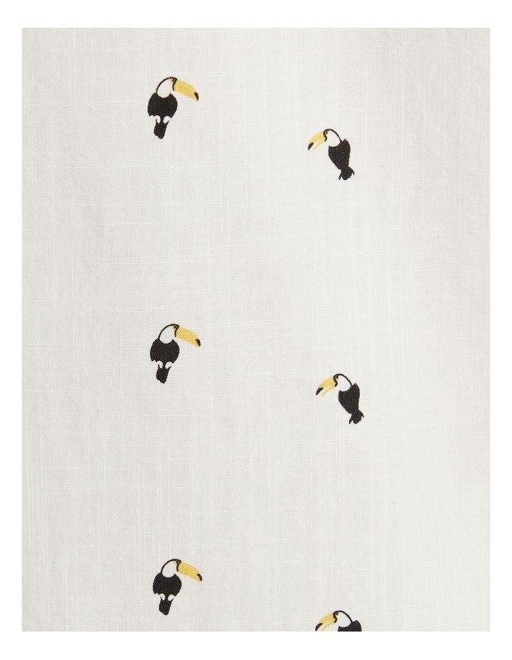 The Avis Toucan Print Shirt White image 6