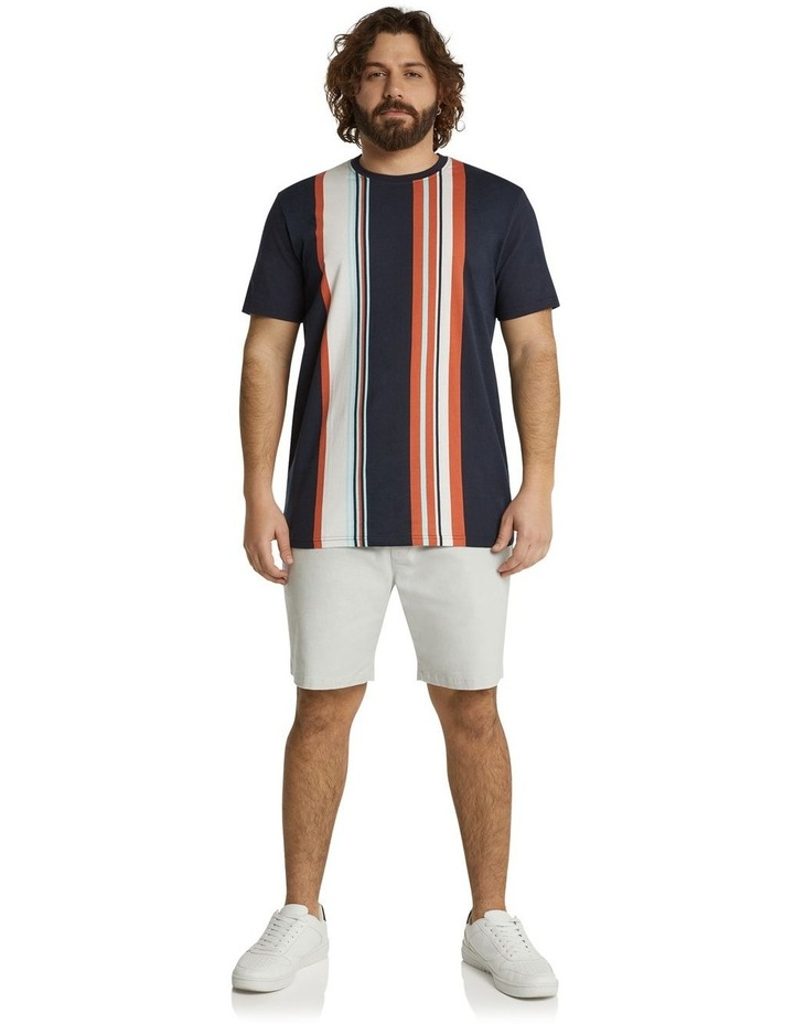 he Fergus Vertical Stripe Longline Tee Navy image 5