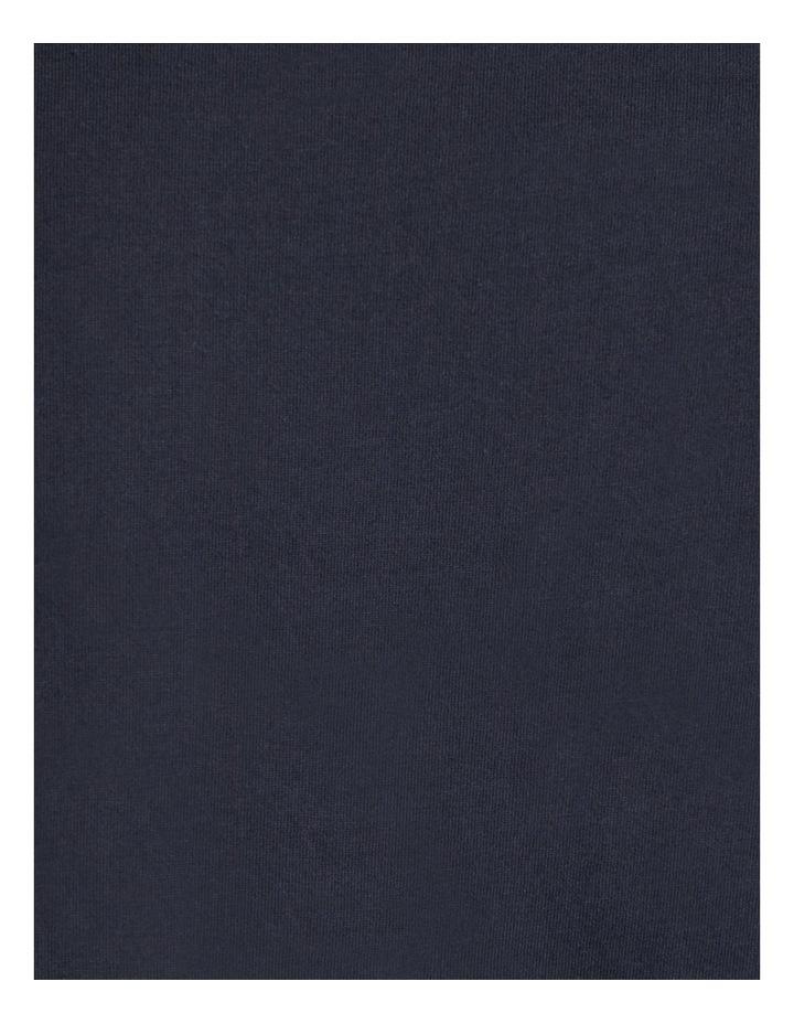 he Fergus Vertical Stripe Longline Tee Navy image 6