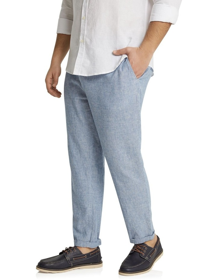 The Maddox Stripe Linen Blend Pant Blue image 2