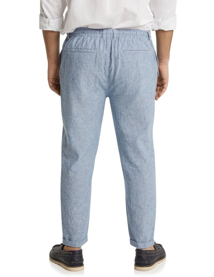 The Maddox Stripe Linen Blend Pant Blue image 3