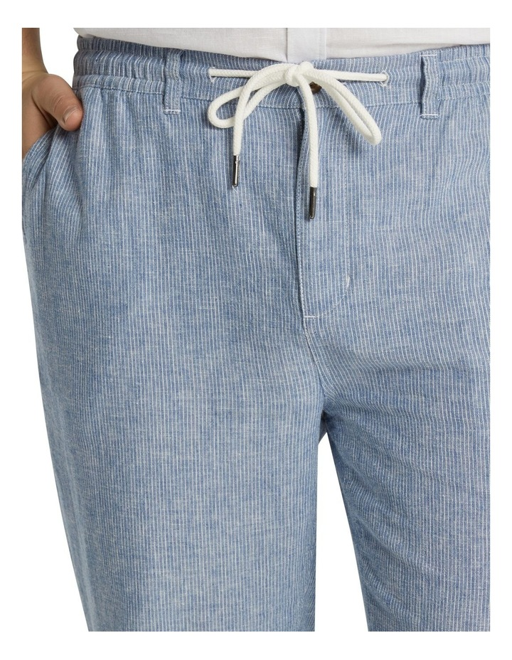 The Maddox Stripe Linen Blend Pant Blue image 4