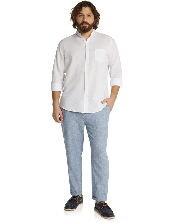 The Maddox Stripe Linen Blend Pant Blue image 5