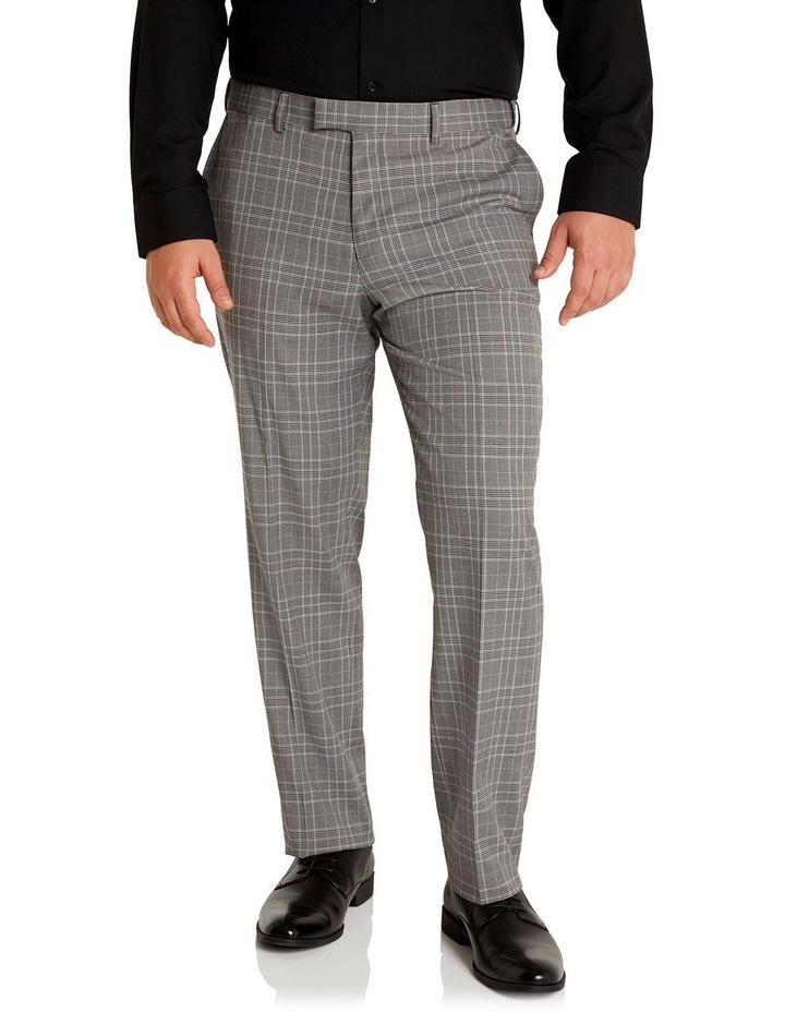 Duke Check Stretch Dress Pant Grey image 1