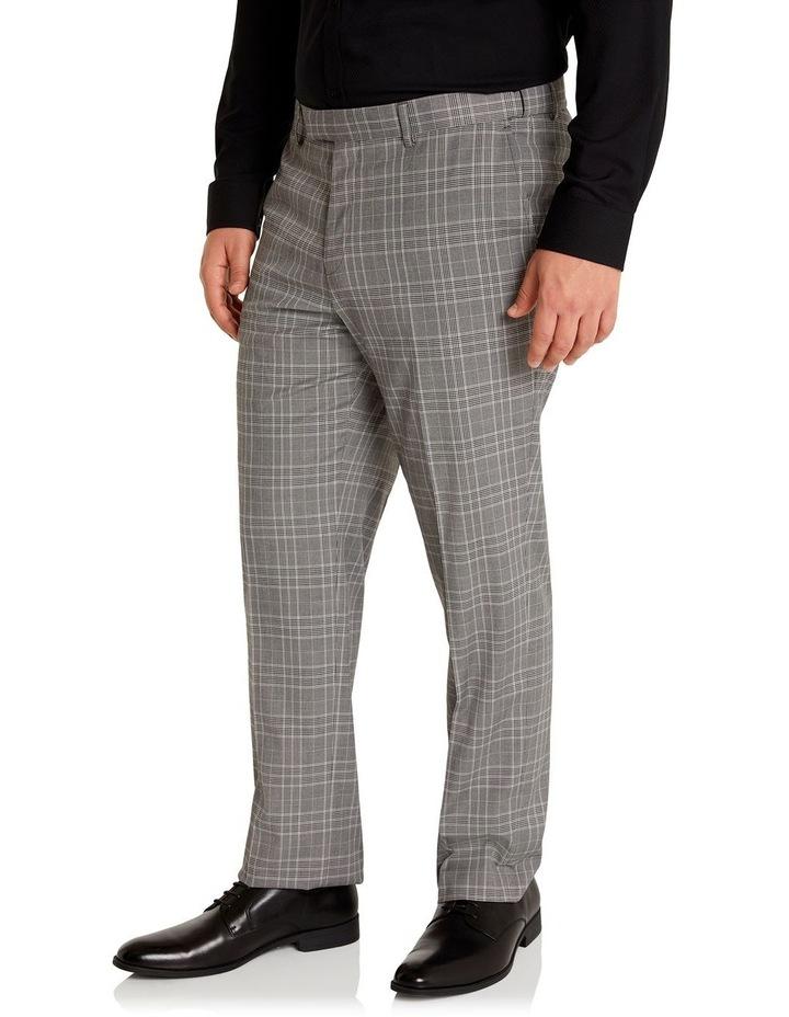 Duke Check Stretch Dress Pant Grey image 2