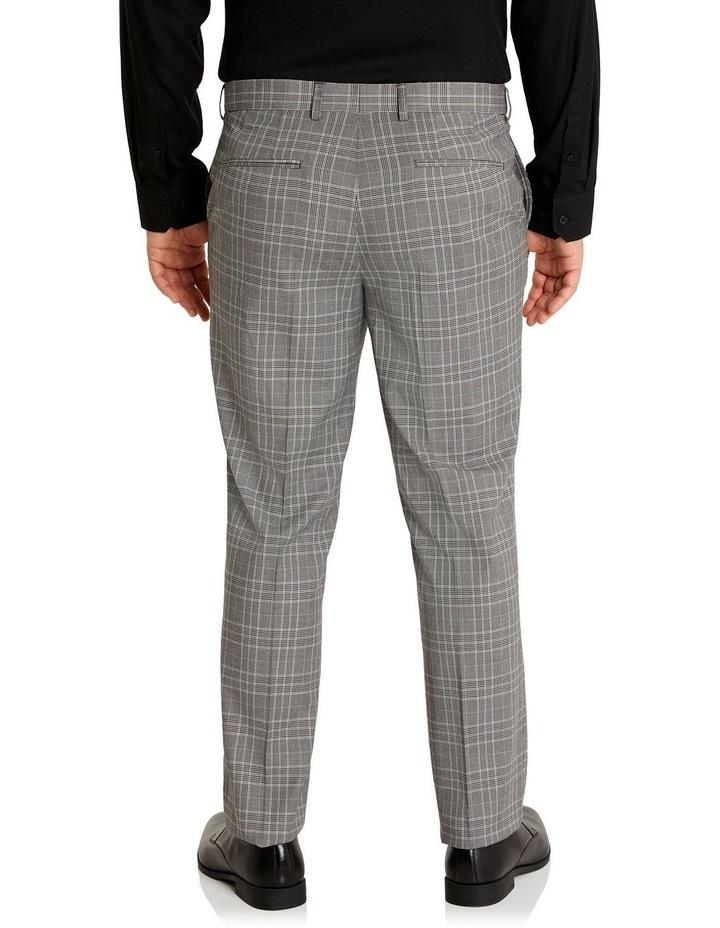 Duke Check Stretch Dress Pant Grey image 3