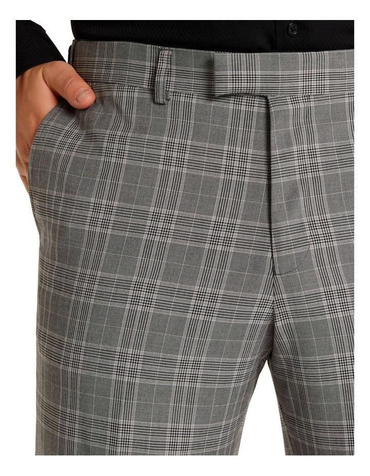 Duke Check Stretch Dress Pant Grey image 4