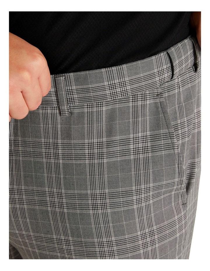 Duke Check Stretch Dress Pant Grey image 6
