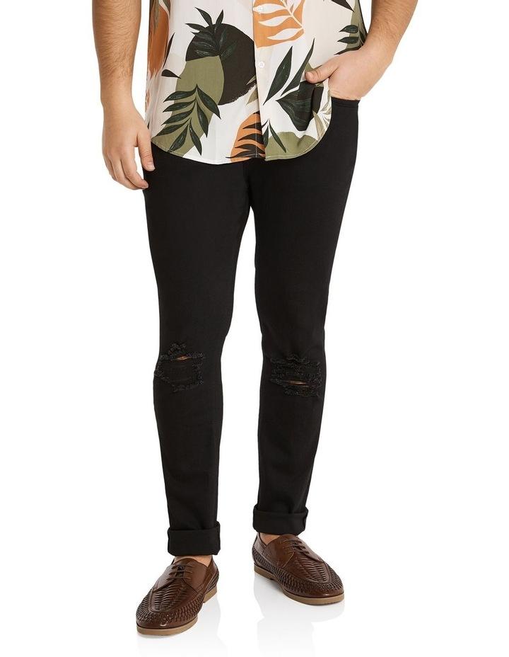 Hunter Superflex Slim Denim Jeans Black image 1