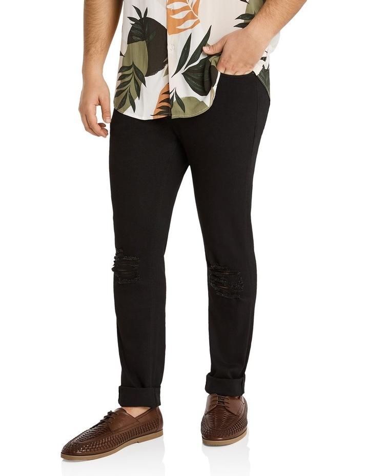 Hunter Superflex Slim Denim Jeans Black image 2