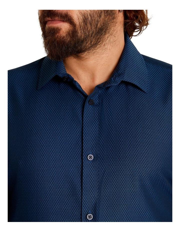 The Boston Textured Bamboo Blend Shirt Navy image 4