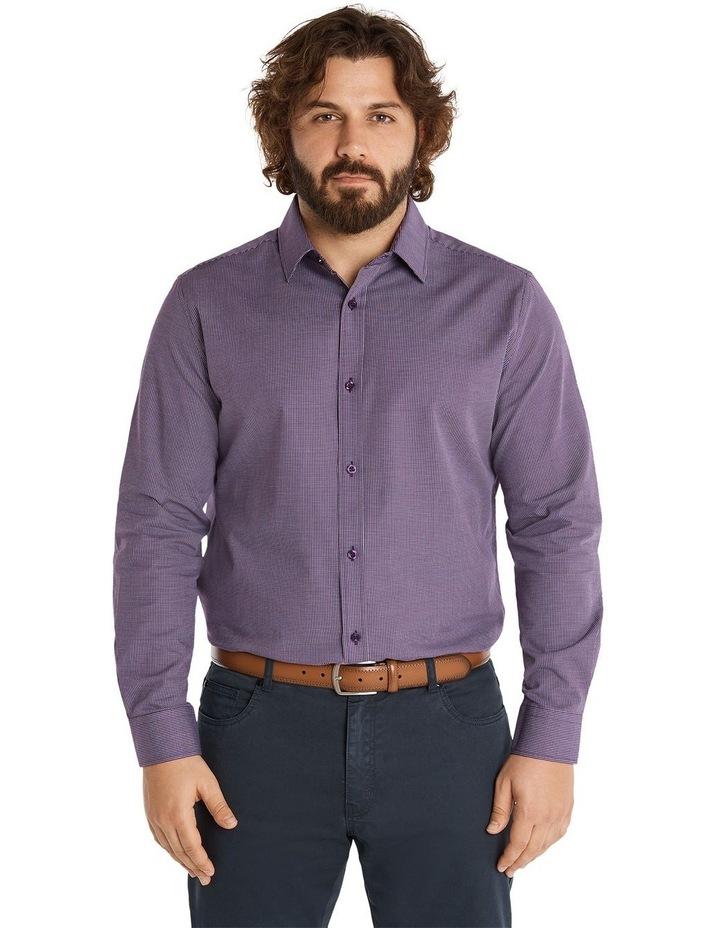 Montgomery Jacquard Shirt Plum image 1
