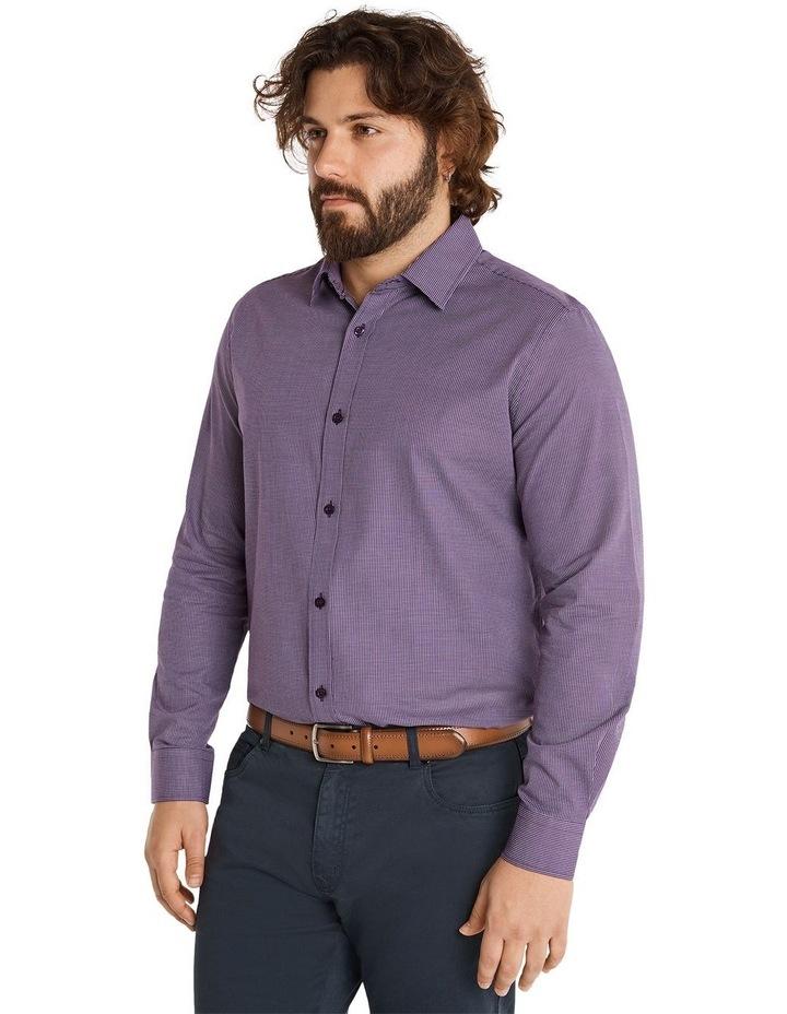 Montgomery Jacquard Shirt Plum image 2