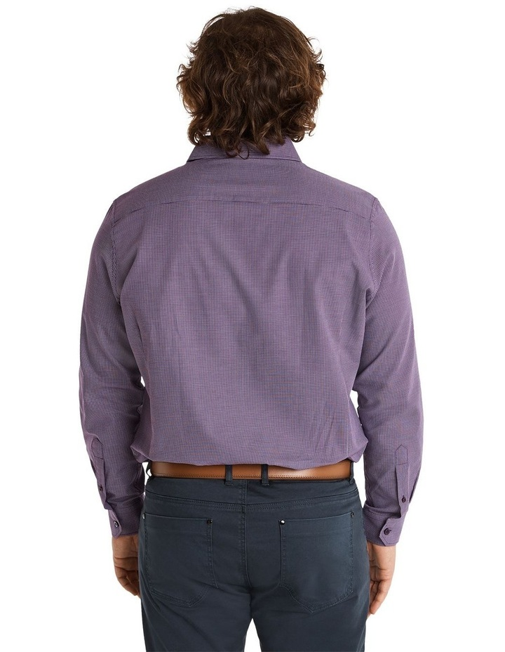 Montgomery Jacquard Shirt Plum image 3
