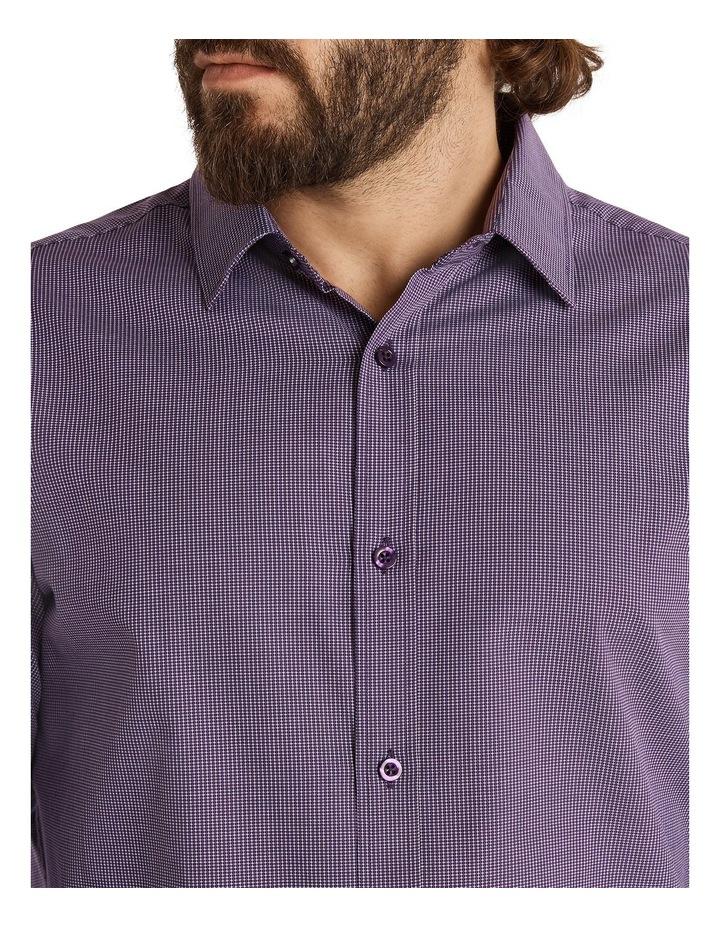 Montgomery Jacquard Shirt Plum image 4