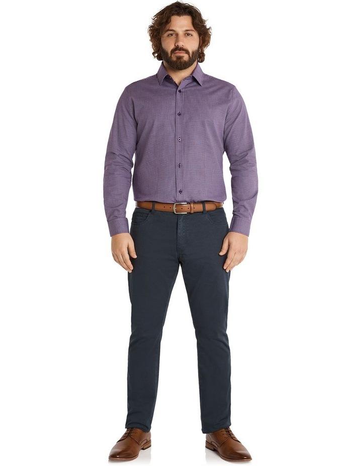 Montgomery Jacquard Shirt Plum image 5