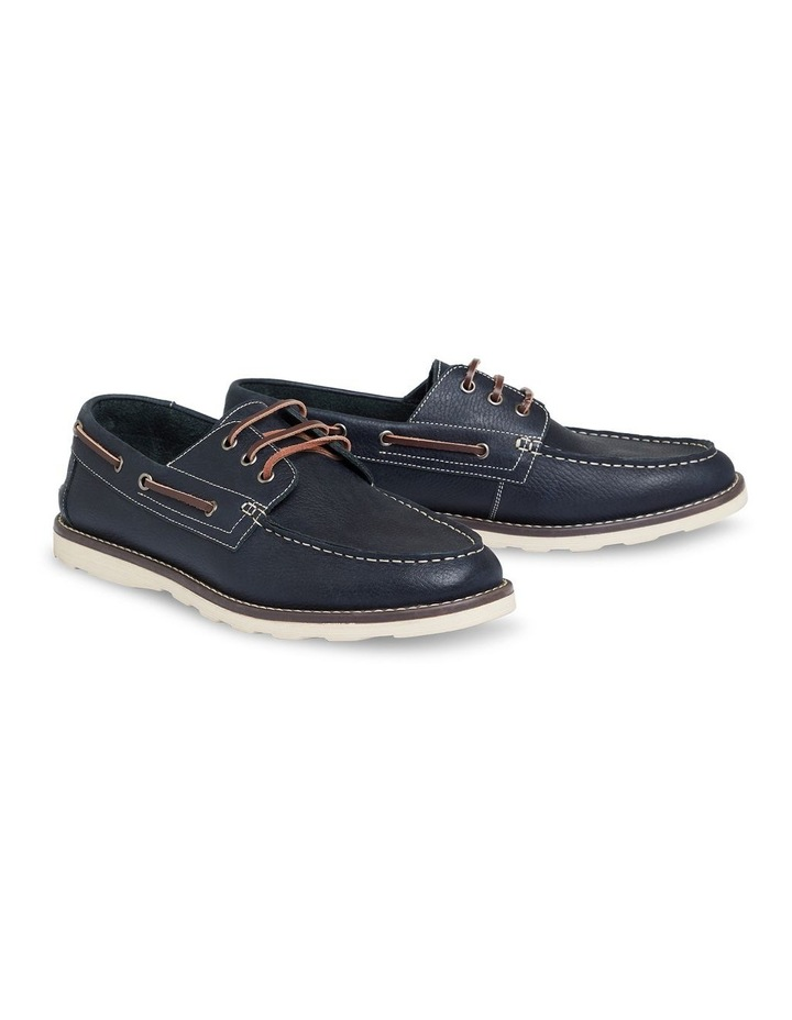 Anchor Leather Boat Shoe Navy image 1