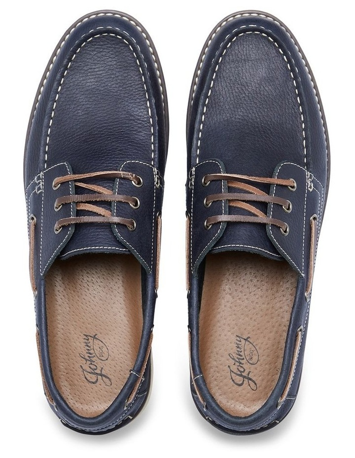 Anchor Leather Boat Shoe Navy image 4