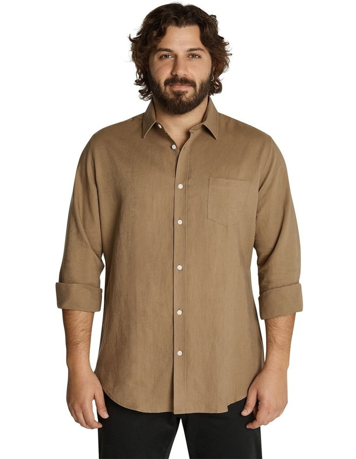 Anders Linen Shirt Toffee image 1