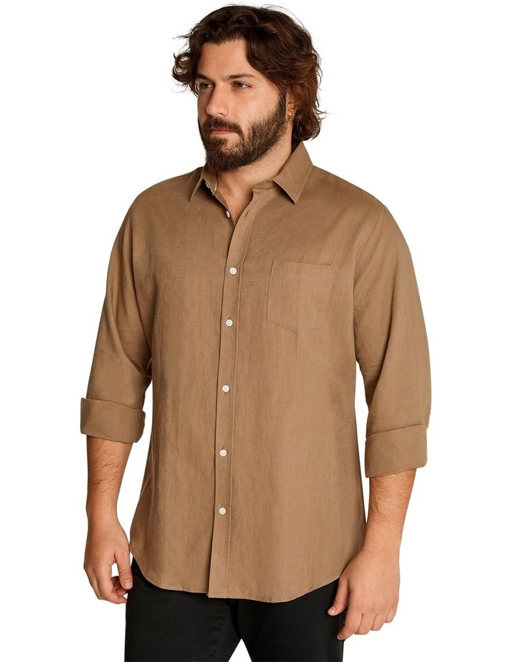 Anders Linen Shirt Toffee image 2