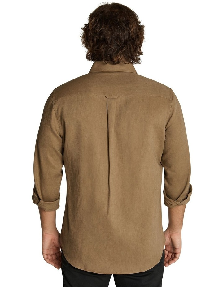 Anders Linen Shirt Toffee image 3