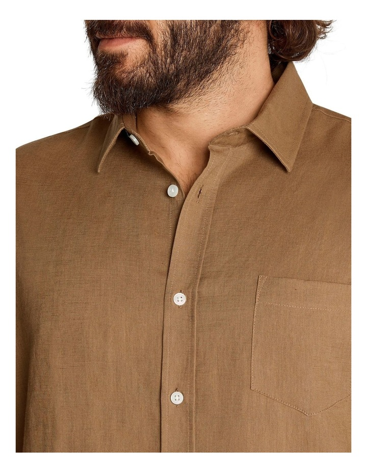 Anders Linen Shirt Toffee image 4