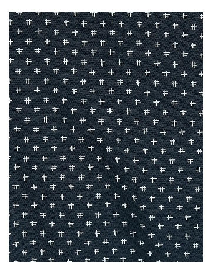Neil Micro Print Stretch Shirt Navy image 6