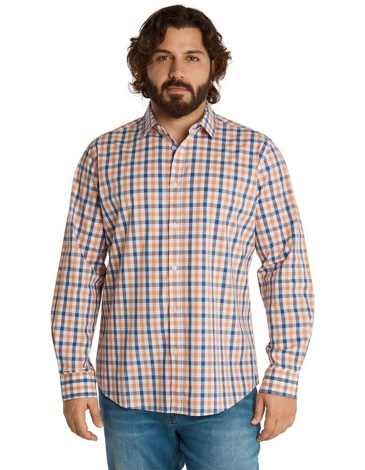 Brayden Check Stretch Shirt Peach image 1
