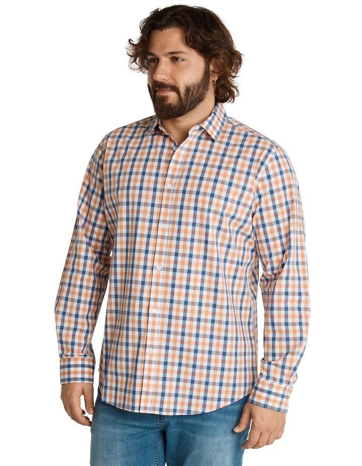 Brayden Check Stretch Shirt Peach image 2