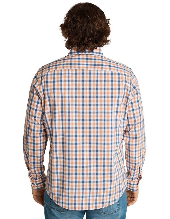 Brayden Check Stretch Shirt Peach image 3