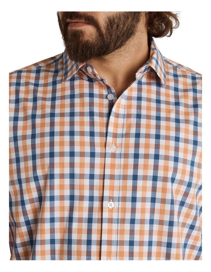 Brayden Check Stretch Shirt Peach image 4