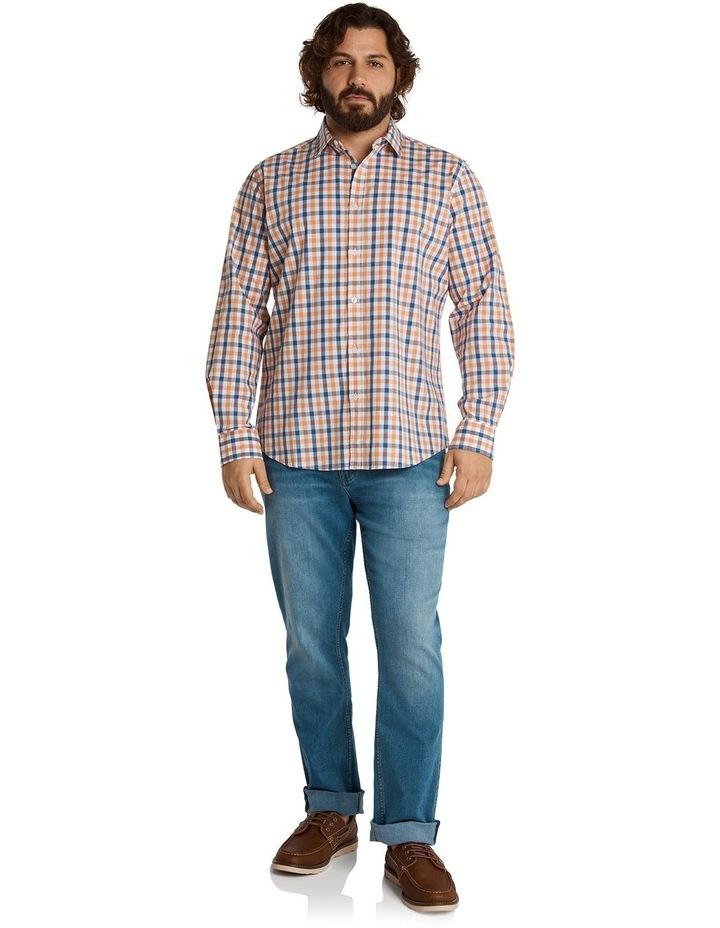 Brayden Check Stretch Shirt Peach image 5