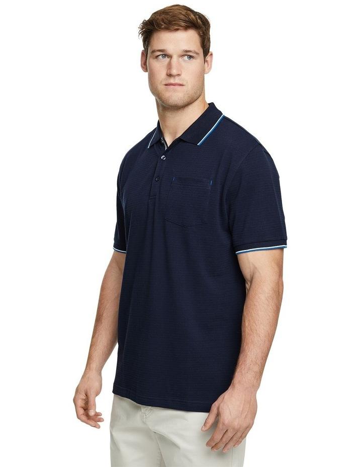 Corby Self Stripe Polo Navy image 2