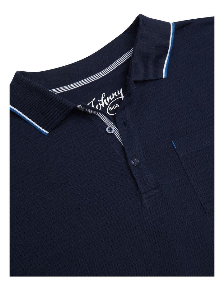 Corby Self Stripe Polo Navy image 7